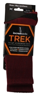 Image of Incredisocks - Bamboo Charcoal Socks Hiking Tall Small/Medium Red