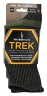 Image of Incredisocks - Bamboo Charcoal Socks Hiking Tall Medium Green/Grey