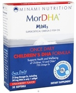 Image of Minami Nutrition - MorDHA Minis Strawberry - 30 Softgels Formerly I.Q. Formula