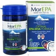 Minami Nutrition - MorEPA Smart Fats Fish Oil Optimal EPA-DHA Formula Orange - 30 Softgels - $18.24