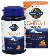 Garden of Life - Minami Supercritical Omega-3 Fish Oil Orange Flavor 850 mg. - 60 Softgels Formerly MorEPA