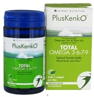 Minami Nutrition - PlusKenkO Total Omega 3-6-7-9 Orange - 30 Softgels - $25.14
