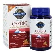 Minami Nutrition - CardiO-3 90% Highest Omega-3 Healthy Heart Formula Orange 900 mg. - 60 Softgels (5425018610860)