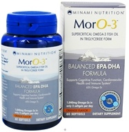 Minami Nutrition - MorO-3 Balanced EPA-DHA Formula Orange Flavor 1040 mg. - 60 Softgels Formerly MarinEPA Formula