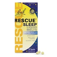 Bach Original Flower Remedies - Rescue Remedy Sleep Liquid Melts - 28 Capsules