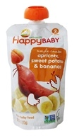 HappyBaby - Organic Baby Food Stage 2 Meals Ages 6+ Months Sweet Potato & Apricot - 3.5 oz. (852697001361)