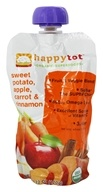 HappyBaby - Organic Baby Food Stage 2 Meals Ages 6+ Months Banana, Beet & Blueberry - 3.5 oz. (852697001378)