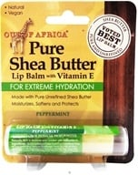 Out Of Africa - Pure Shea Butter Lip Balm with Vitamin E Peppermint - 0.25 oz. (formerly SPF15)