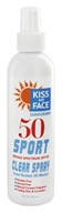 Kiss My Face - Sport Clear Spray Ultra Sweat Resistant 50 SPF - 8 oz. by Kiss My Face