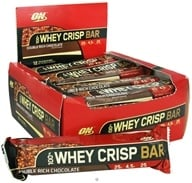 Optimum Nutrition - 100% Whey Crisp Bar Double Rich Chocolate - 2.46 oz.