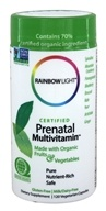 Rainbow Light - Certified Organics Prenatal Multivitamin - 120 Vegetarian Capsules (021888800216)