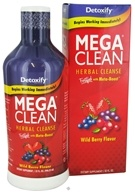 Image of Detoxify Brand - Mega Clean Herbal Cleanse Wild Berry Flavor - 32 oz.