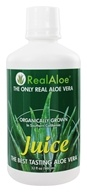Real Aloe - Jus organiquement cultivé de Real Aloe Vera - 32 once.