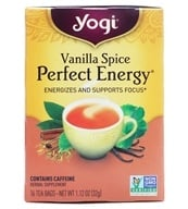 Yogi Tea - Perfect Energy All Natural Tea Vanilla Spice - 16 Tea Bags (076950203280)