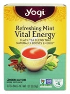 Yogi Tea - Vital Energy Black Tea Blend Refreshing Mint - 16 Tea Bags, from category: Teas