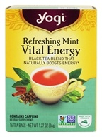 Yogi Tea - Vital Energy Black Tea Blend Refreshing Mint - 16 Tea Bags (076950203303)
