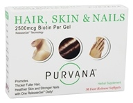 Heaven Sent - Purvana Hair Skin & Nails 2500 mcg. - 30 Softgels by Heaven Sent