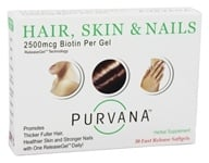 Heaven Sent - Purvana Hair Skin & Nails 2500 mcg. - 30 Softgels, from category: Herbs