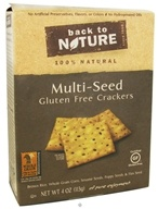 Back To Nature - Crackers Gluten Free Multi-Seed - 4 oz.