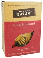Back To Nature - Crackers Classic Round - 8.5 oz. DAILY DEAL