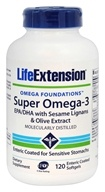 Life Extension - Super Omega-3 EPA/DHA with Sesame Lignans & Olive Fruit Extract - 120 Enteric Coated Softgels by Life Extension