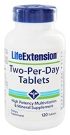 Life Extension - Two-Per-Day High Potency Multivitamin & Mineral - 120 Vegetarian Tablets (737870181514)