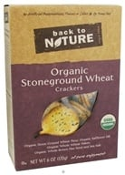 Back To Nature - Crackers Organic Stoneground Wheat - 6 oz.