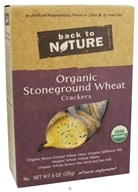 Back To Nature - Crackers Organic Stoneground Wheat - 6 oz., from category: Health Foods