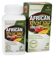 Image of Genceutic Naturals - African Mango & Green Tea 500 mg. - 60 Vegetarian Capsules