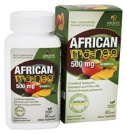 Genceutic Naturals - African Mango & Green Tea 500 mg. - 60 Vegetarian Capsules, from category: Diet & Weight Loss