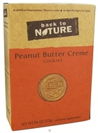 Back To Nature - Cookies Peanut Butter Creme - 9.6 oz., from category: Health Foods