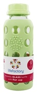 Lifefactory - Glass Beverage Bottle With Silicone Sleeve Spring Green - 9 oz. (609722691659)