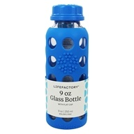 Lifefactory - Glass Beverage Bottle With Silicone Sleeve Ocean Blue - 9 oz., from category: Water Purification & Storage