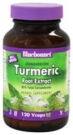 Image of Bluebonnet Nutrition - Standardized Turmeric Root Extract - 120 Vegetarian Capsules