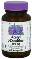 Bluebonnet Nutrition - Acetyl L-Carnitine Free-Form Amino Acid 250 mg. - 30 Vegetarian Capsules by Bluebonnet Nutrition