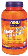 NOW Foods - Ribose Energy with Creatine 100% Pure Powder - 11.11 oz. CLEARANCE PRICED