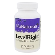 NuNaturals - LevelRight For Blood Sugar Management - 90 Capsules Contains Banaba Leaf