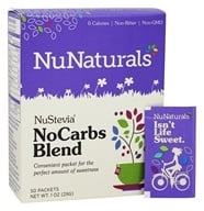 NuNaturals - NuStevia NoCarbs Blend - 50 Packet(s) OVERSTOCKED