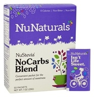 NuNaturals - NuStevia NoCarbs Blend - 50 Packet(s) OVERSTOCKED, from category: Health Foods