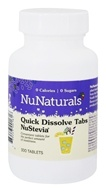 Image of NuNaturals - NuStevia Quick Dissolve Tabs - 300 Tablets