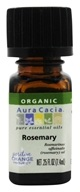 Image of Aura Cacia - Essential Oil Organic Rosemary - 0.25 oz.