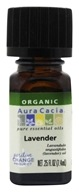 Image of Aura Cacia - Essential Oil Organic Lavender - 0.25 oz.