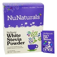 NuNaturals - NuStevia White Stevia Powder - 50 Packet(s) (739223001579)