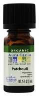 Aura Cacia - Essential Oil Organic Patchouli - 0.25 oz.