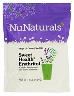 NuNaturals - Sweet Health Erythritol Crystals - 16 oz.