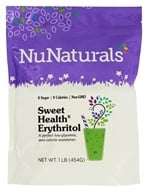 NuNaturals - Sweet Health Erythritol Crystals - 16 oz. by NuNaturals