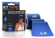 Image of KT Tape - Kinesiology Therapeutic Elastic Athletic Tape Pre-Cut Strips Blue - 20 Strip(s)