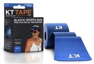 KT Tape - Kinesiology Therapeutic Elastic Athletic Tape Pre-Cut Strips Blue - 20 Strip(s) by KT Tape