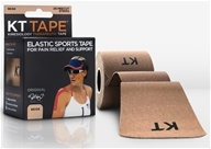KT Tape - Kinesiology Therapeutic Elastic Athletic Tape Pre-Cut Strips Beige - 20 Strip(s) by KT Tape