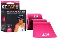 KT Tape - Kinesiology Therapeutic Elastic Athletic Tape Pre-Cut Strips Pink - 20 Strip(s) by KT Tape